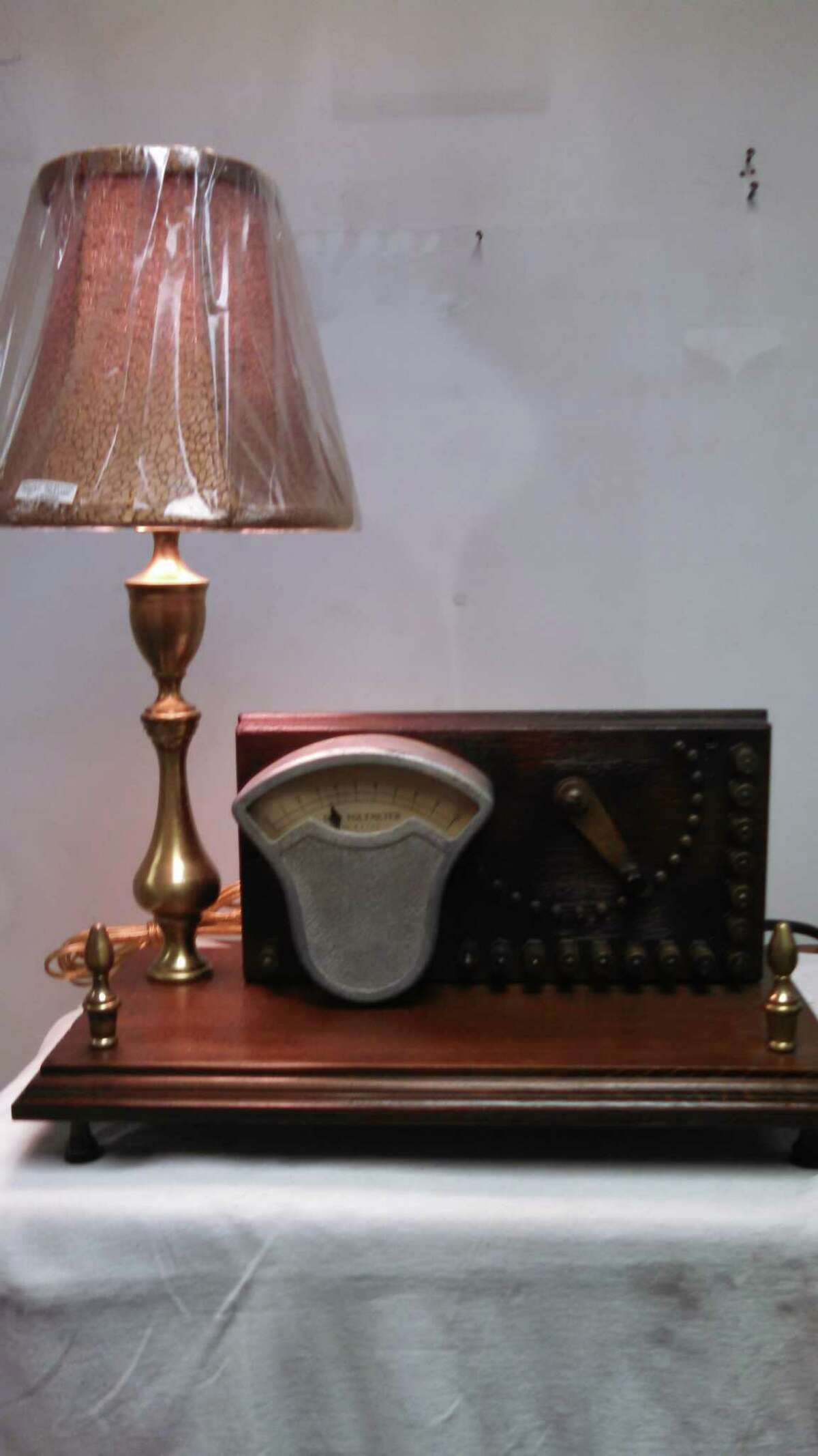David Rosenberg, a part-time butcher and artist, loves to create lamps, clocks and other functional art out of junk.
