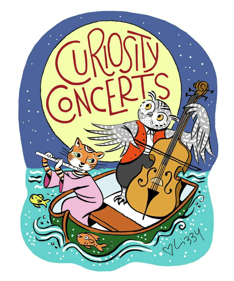 The illustration for Curiosity Concerts created by artist Lizzy Rockwell in the Old Greenwich studio of her parents, Anne and the late Harlow Rockwell. Photo: Contributed Photo / Greenwich Citizen