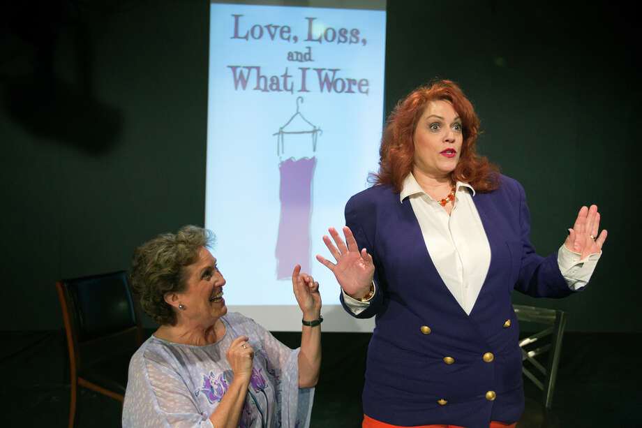 """Marcy Bannor, left, and Rozanne Curtis share insights on clothes and their impact on female identity in """"Love, Loss and What I Wore"""" at Music Box Theatre.  Photo: Cody Duty, Staff / © 2014 Houston Chronicle"""