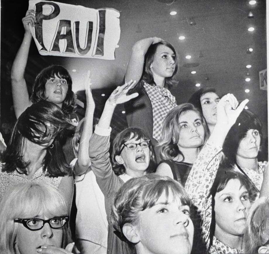 Concert goers at the Beatles concert in the Sam Houston Coliseum, Houston, Texas, Aug. 19, 1965. Photo: HC Staff / The Houston Chronicle