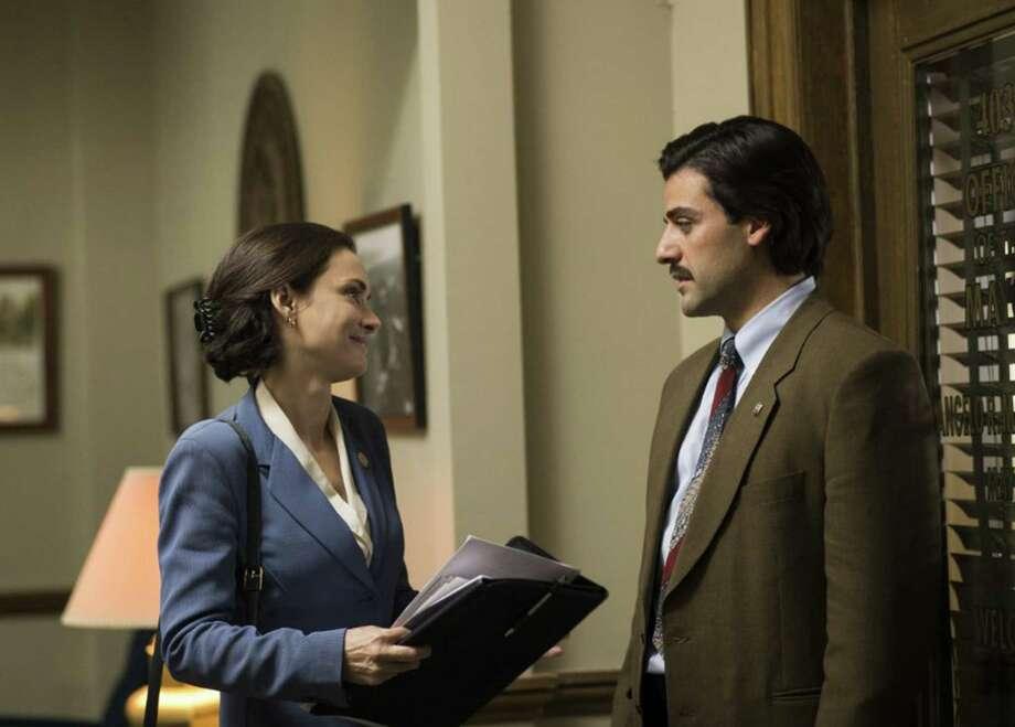 "Winona Ryder, as a City Council member, and Oscar Isaac as the mayor in ""Show Me a Hero."" (Paul Schiraldi/HBO) Photo: Paul Schiraldi/HBO, HO / Newsday"