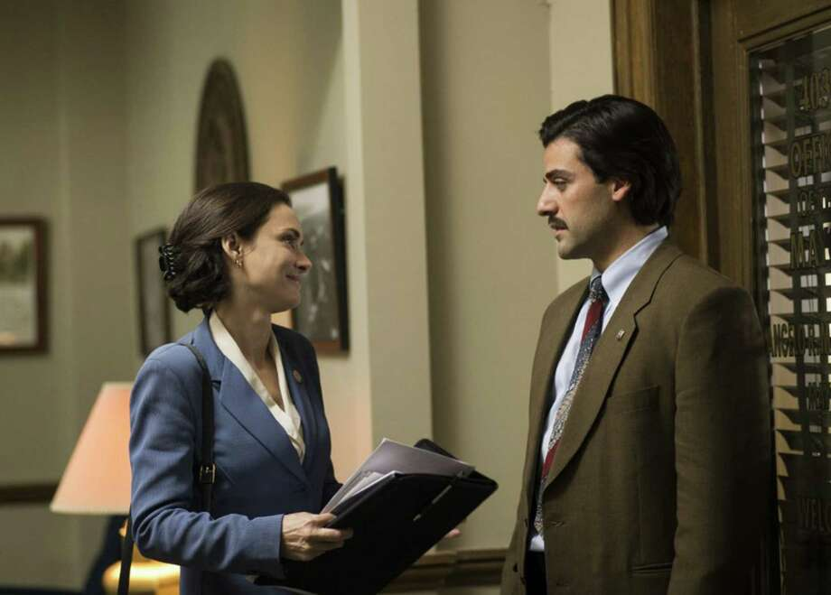 "Winona Ryder, as a City Council member, and Oscar Isaac as the mayor in ""Show Me a Hero."" (Paul Schiraldi/HBO) Photo: Paul Schiraldi/HBO, HO / Newsday"