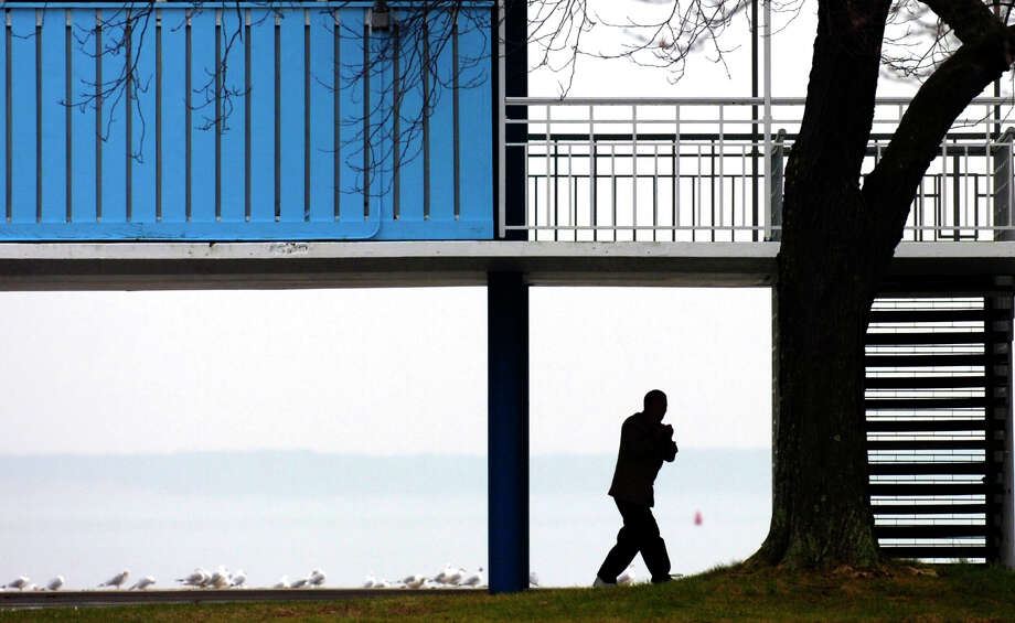 City officials are considering a recommendation to allow food carts at the pavilion at Cummings Park. Photo: Andrew Sullivan / Hearst Connecticut Media / 00001697A