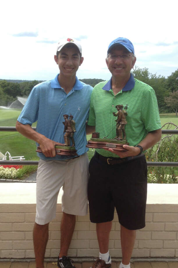 Kenny Dorian, left, and Ed Dorian of Greenwich recently won the 26th MGA Father and Son Net Tournament at Brynwood Golf & Country Club in Armonk, N.Y. Photo: / Contributed Photo