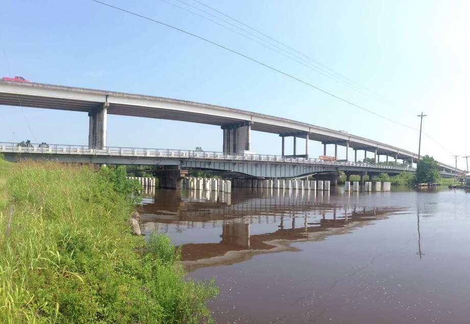 Restored Cow Bayou Swing Bridge on Texas 87