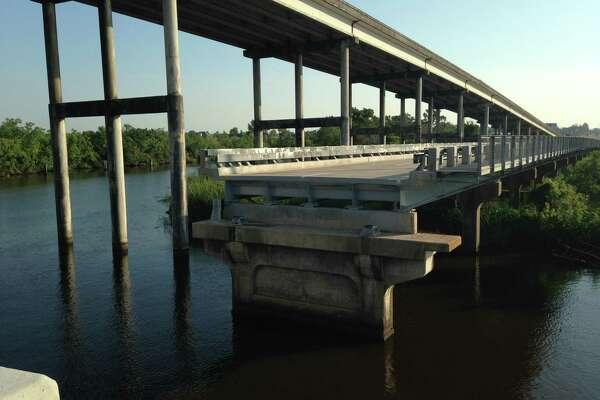 Bridge City Chamber of Commerce celebrates first swing of Cow Bayou Bridge since its $9.5 million repairs.