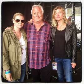 Restaurateur Anna Weinberg (at left) with Another Planet CEO Gregg Perloff and his colleague, Danielle Madeira, onstage at the Outside Lands Music Festival. August 2015.