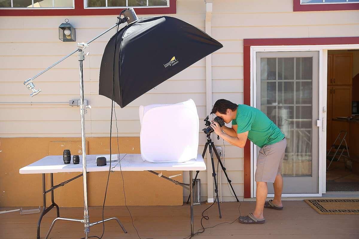 Food writer J. Kenji Lopez-Alt photographs tacos at home in San Mateo.