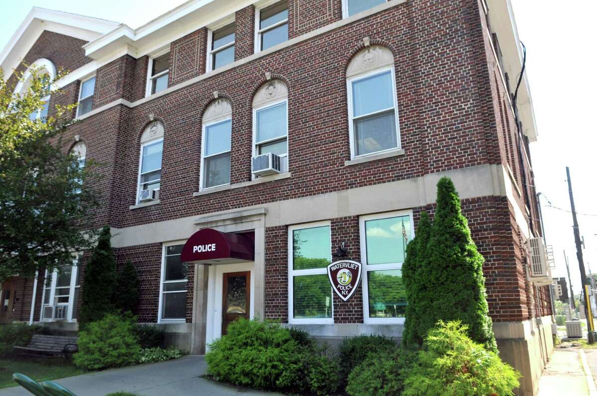 A view of the outside of the Watervliet Police Department (Phoebe Sheehan/Special to The Times Union)