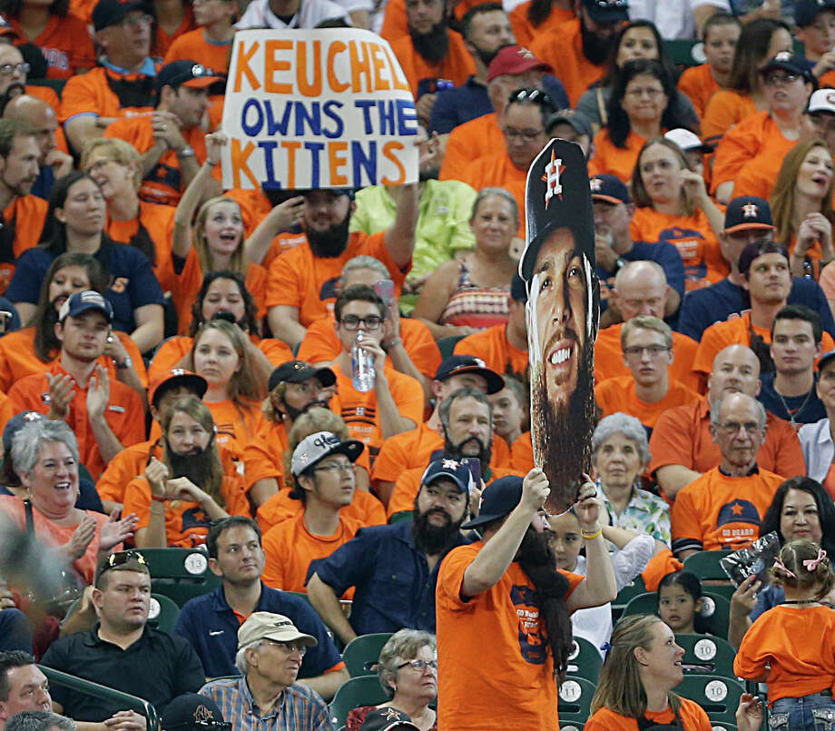 Astros fans in Keuchel's Korner have a new way to show their support for staff ace and AL All-Star Game starter Dallas Keuchel this year. Photo: James Nielsen, Staff / © 2015  Houston Chronicle