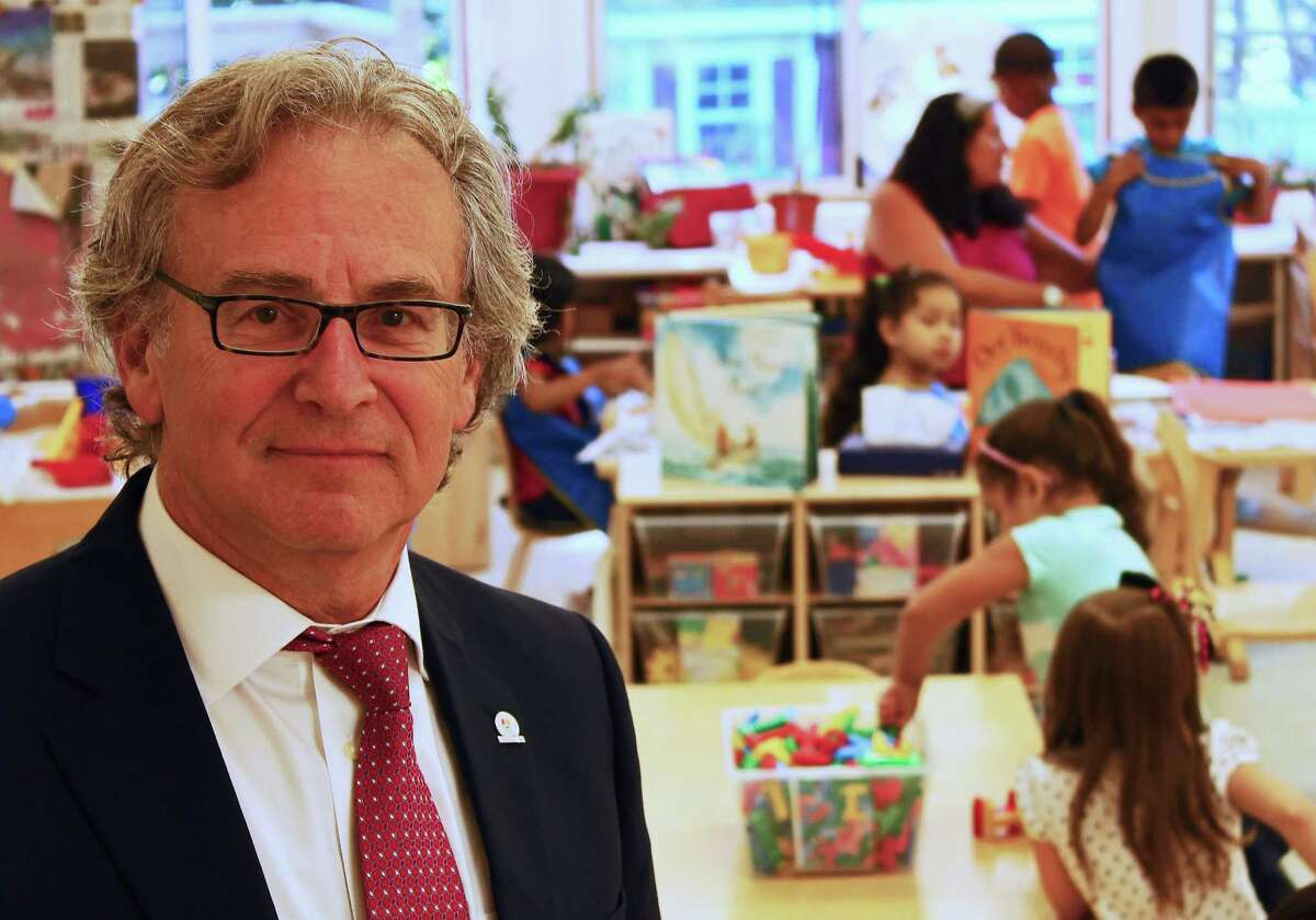 Marc Jaffe, chief executive officer of Childcare Learning Centers, at the agency's Palmer's Hill Road headquarters in Stamford on Aug. 13, 2015.