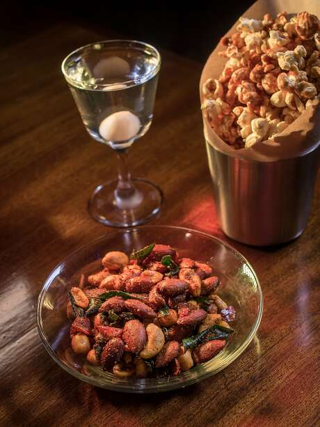 Popcorn and Bar Nuts with the Martini du Nord at the Cafe du Nord's Viking Room in San Francisco. Photo: John Storey, Special To The Chronicle