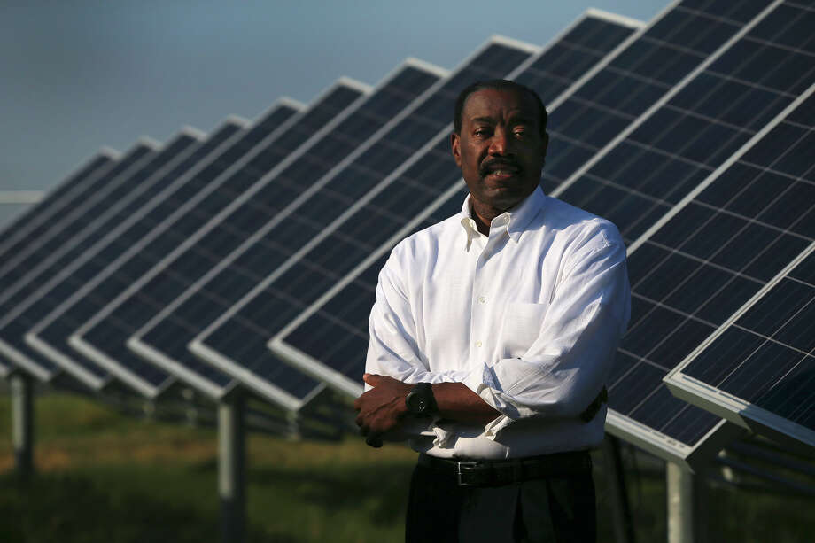 CPS Energy CEO Doyle Beneby stands Thursday August 13, 2015 at the OCI Solar Power Alamo 2 solar farm on Binz-Engleman Road. Beneby has pushed the city-owned utility toward using cleaner energy sources and is resigning effective September 30. Beneby has headed CPS since August 2010. Photo: John Davenport, Staff / San Antonio Express-News / ©San Antonio Express-News/John Davenport