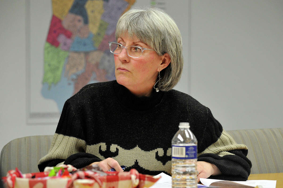 Cynthia Reeder (D-11) during the Board of Representatives' pre-steering committee meeting at the Government Center in December 2014.