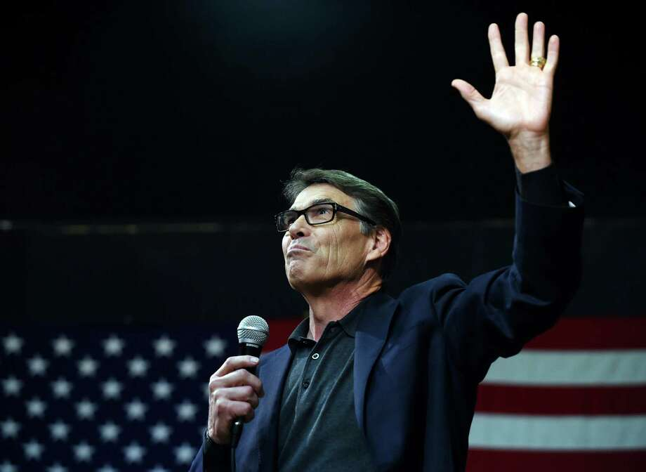 Republican presidential candidate, former Texas Gov. Rick Perry speaks during a campaign stop at Anderson Christian School on Thursday, Aug. 13, 2015, in Anderson, S.C. (AP Photo/Rainier Ehrhardt) Photo: Rainier Ehrhardt, FRE / Associated Press / FR155191 AP