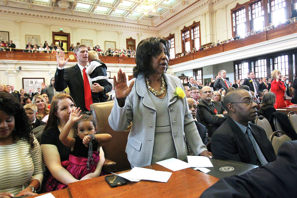 Ruth Jones McClendon, taking her oath of office this year, has represented House District 120 for 19 years.
