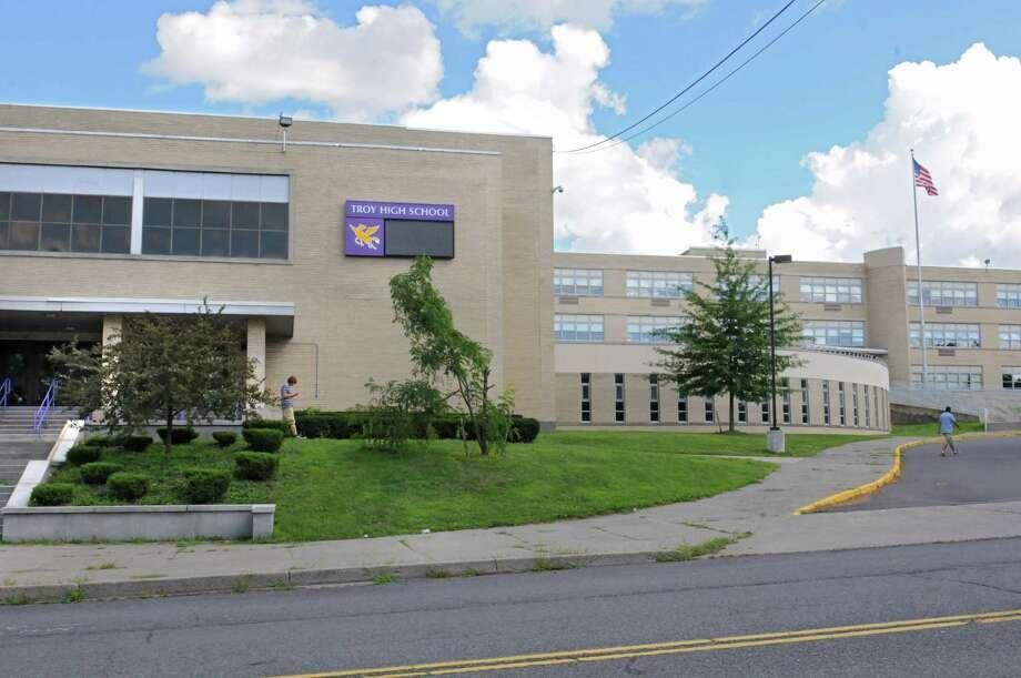 Exterior of Troy High School on Wednesday, Aug. 12, 2015 in Troy, N.Y. (Lori Van Buren / Times Union) Photo: Lori Van Buren / 00032987A