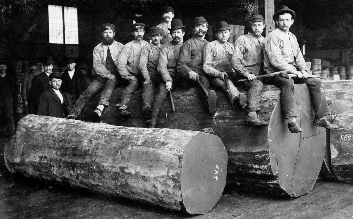 Woodcutters in Oregon wear Levi-Strauss denim in 1880.