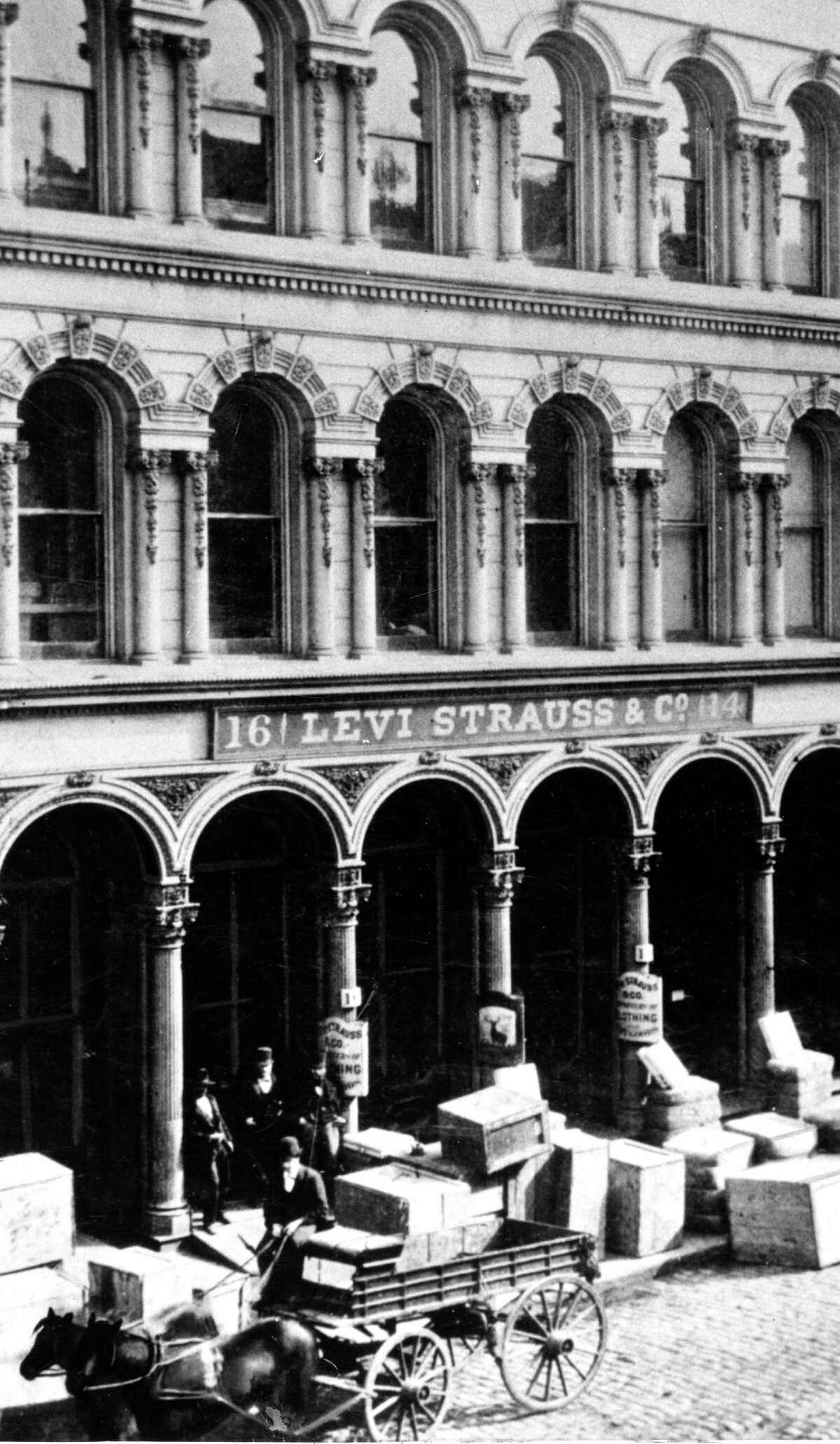 The Old Levi Strauss Co. building was destroyed in 1906 in San Francisco.