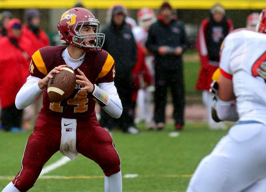 """The Cadets tried a couple different options at quarterback last season before turning to the unproven Babineau full-time in Week 5. The move paid dividends, as Babineau went 8-1 as a starter and led the Cadets to the Class M-Small championship. Now a junior, he'll have to find a few new playmakers. Coach's take: """"Looks like he's another talented St. Joseph's quarterback. I caught a little glimpse of him at the 7-on-7 Grip It and Rip It at New Canaan. (St. Joseph coach) Joe (Della Vecchia) does a great job of bringing the quarterbacks along. … Looks like the same results."""" — Trinity Catholic's Donny Panapada Photo: Christian Abraham"""