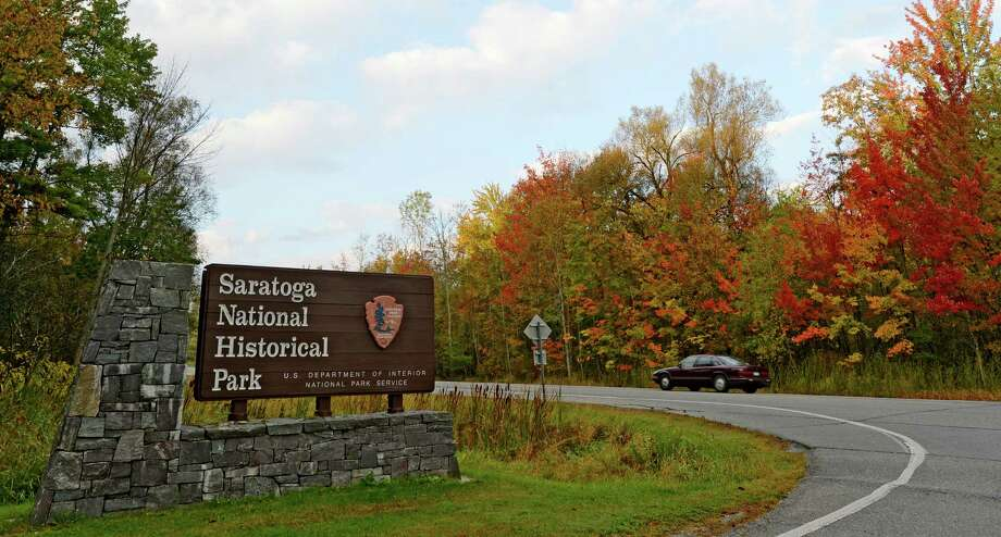 Saratoga National Historical Park was closed Tuesday morning, Oct. 1, 2013 in Stillwater, N.Y. It will remain closed until the federal shutdown ends. (Skip Dickstein/Times Union) Photo: SKIP DICKSTEIN