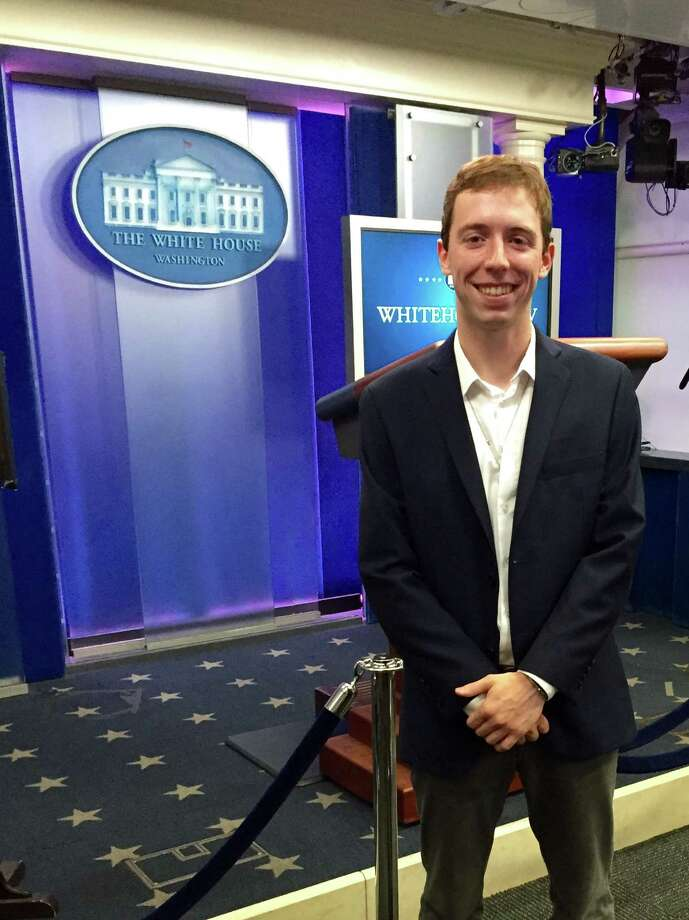 Addison Bennett was a 2015 summer intern at the White House. He worked in the Office of Presidential Correspondence. Photo: John Bennett / Hearst Connecticut Media