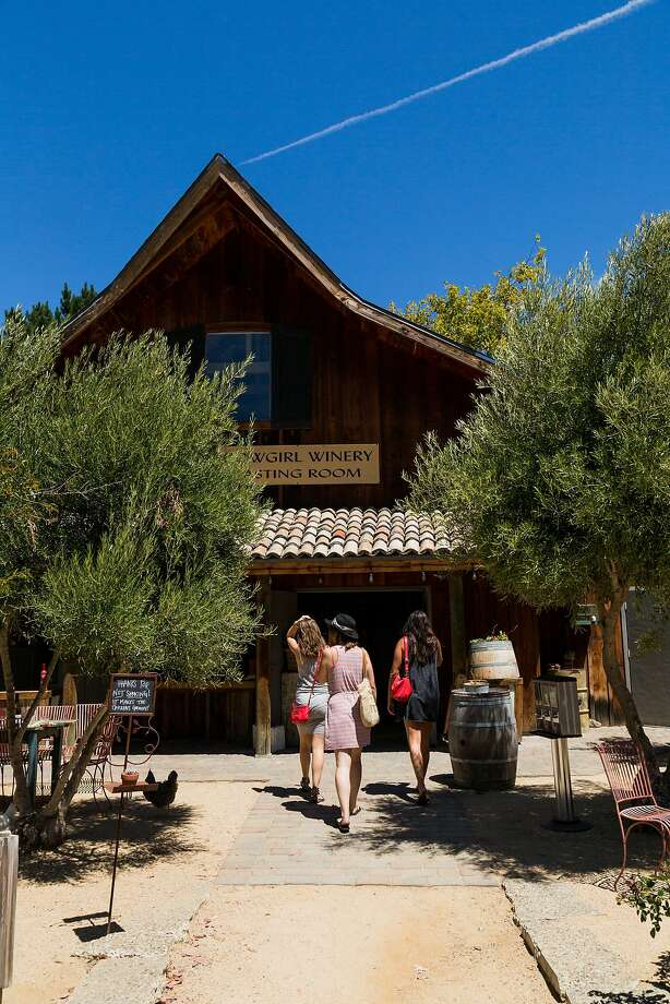 Guests arrive to the tasting room at Cowgirl Winery in Carmel Valley, Calif., Friday, August 14, 2015. Photo: Jason Henry, Special To The Chronicle