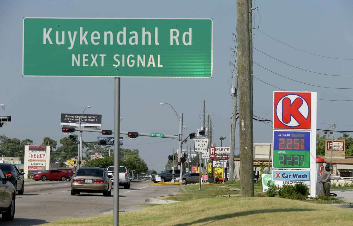 The intersection of FM 1960 and Kuykendahl is shown Friday, Aug. 14, 2015, in Houston. ( Melissa Phillip / Houston Chronicle )