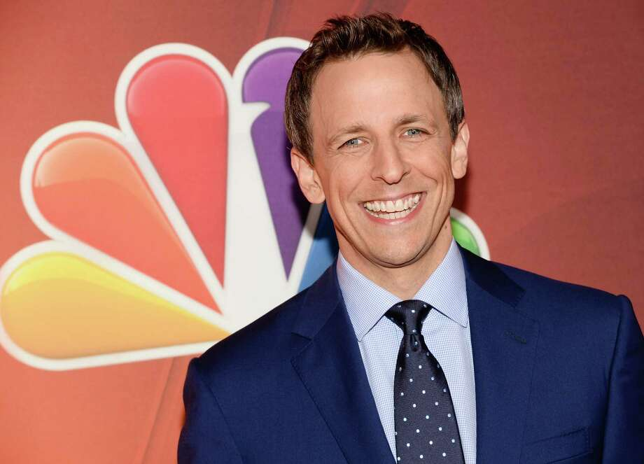 """Late Night with Seth Meyers"" host Seth Meyers attends the NBC Network 2014 Upfront presentation at the Javits Center on Monday, May 12, 2014, in New York. (Photo by Evan Agostini/Invision/AP) ORG XMIT: NYEA134 Photo: Evan Agostini / Invision"