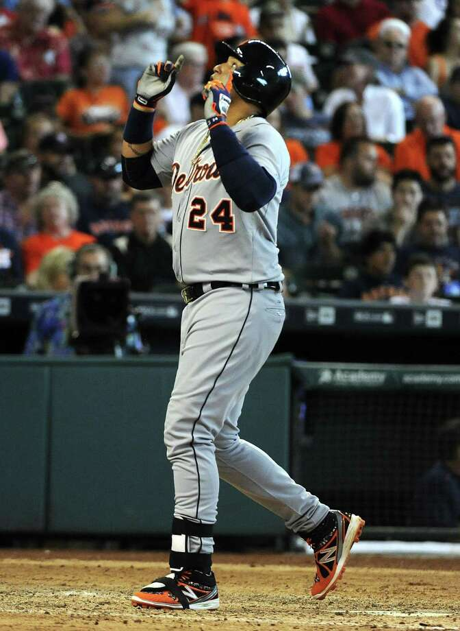 Miguel Cabrera, 33, is guaranteed $212 million over the next seven seasons. Photo: Eric Christian Smith, Associated Press / FR171023 AP