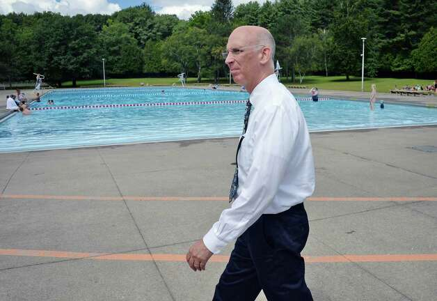 Saratoga Springs attorney Kurt Mausert at Peerless Pool at Saratoga Spa State Park Wednesday August 12, 2015 in Saratoga Springs, NY.  (John Carl D'Annibale / Times Union) Photo: John Carl D'Annibale / 00032983A