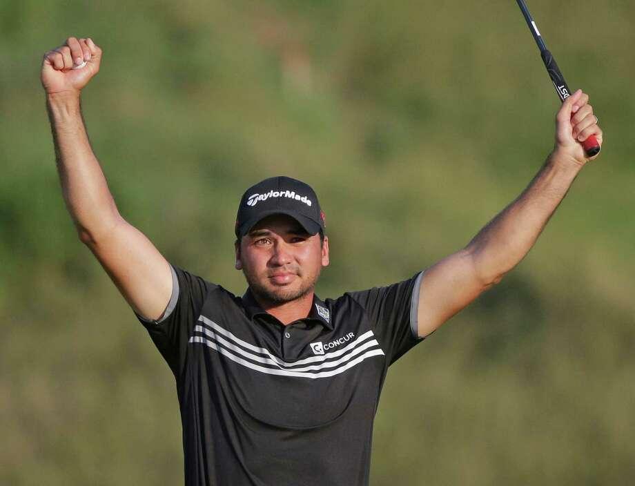 Jason Day, of Australia, celebrates after winning the PGA Championship golf tournament Sunday, Aug. 16, 2015, at Whistling Straits in Haven, Wis. (AP Photo/Jae Hong) ORG XMIT: PGA546 Photo: Jae Hong / AP
