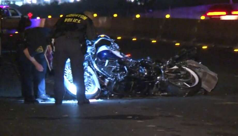 A motorcyclist who may have hit the back of an 18-wheeler on the southbound Gulf Freeway at Clear Lake City Boulevard was taken to a hospital in critical condition, Aug. 16, 2015. Photo: Christian, Carol, Via Metro Video