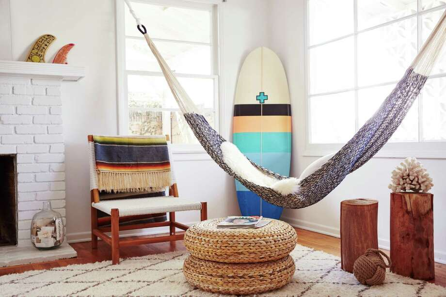 Yellow Leaf's Montauk cotton rope hammock, $145, is available at yellowleafhammocks.com.
