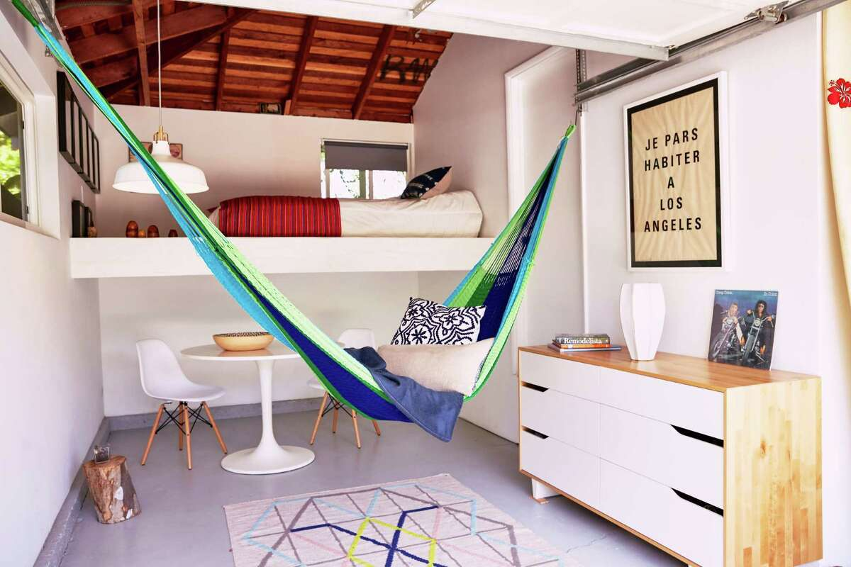 The triple-weave Signature Lanta hammock, $195, comes in various color combinations.