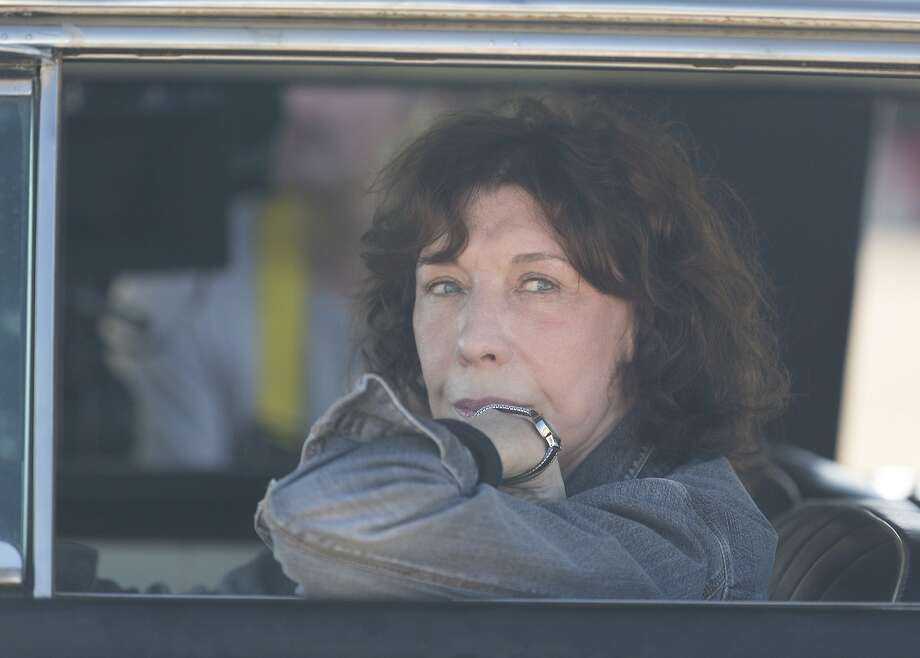 """Grandma"" reflects on 50 years of American women's history while chronicling the one-day odyssey of a salty septuagenarian (Lily Tomlin) helping her granddaughter get an abortion. Photo: Sony Classics"