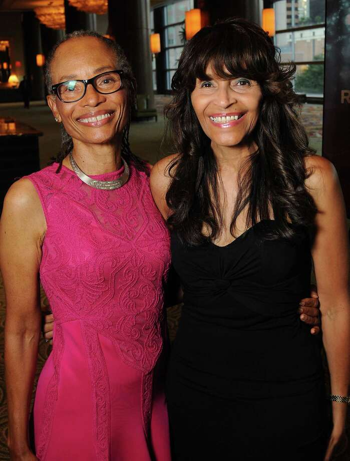 Sherra Aguirre and Janette Cosley at the Ensemble Theater Gala at the Hilton Americas Hotel Saturday August 15, 2015.(Dave Rossman photo) Photo: Dave Rossman, For The Chronicle / Freelalnce