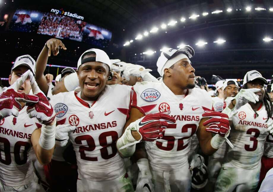 Arkansas Razorbacks fans gather at ... Photo: Scott Halleran, Getty Images