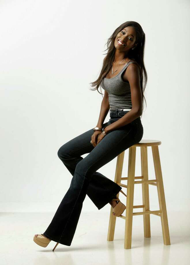 "Hadassah Richardson, currently competing on the new season of ""America's Next Top Model"", poses  Tuesday, Aug. 11, 2015, in Houston.   She is one of 14 models vying for the prize. She attended Clements High School and was Miss Sugar Land 2013.