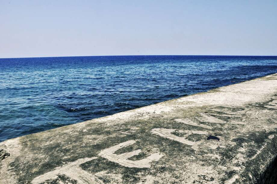 """The top of Havana Malecón (breakwater). """"Te amo"""" means """"I love you."""" (For photos of Olivia Tallet's family and Havana, scroll through the gallery.) Photo: Olivia P. Tallet"""