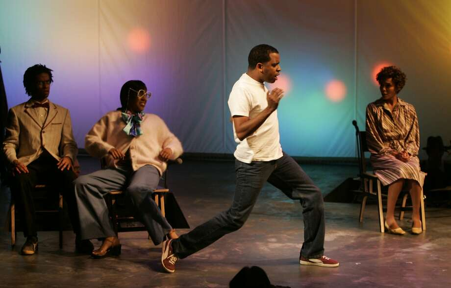 """Daniel Breaker in white t-shirt as the """"Youth"""" cast member. Passing Strange dress rehearsal at the Berkeley Repertory Theater in Berkeley on 10/18/06. Photo: Deanne Fitzmaurice, SFC"""