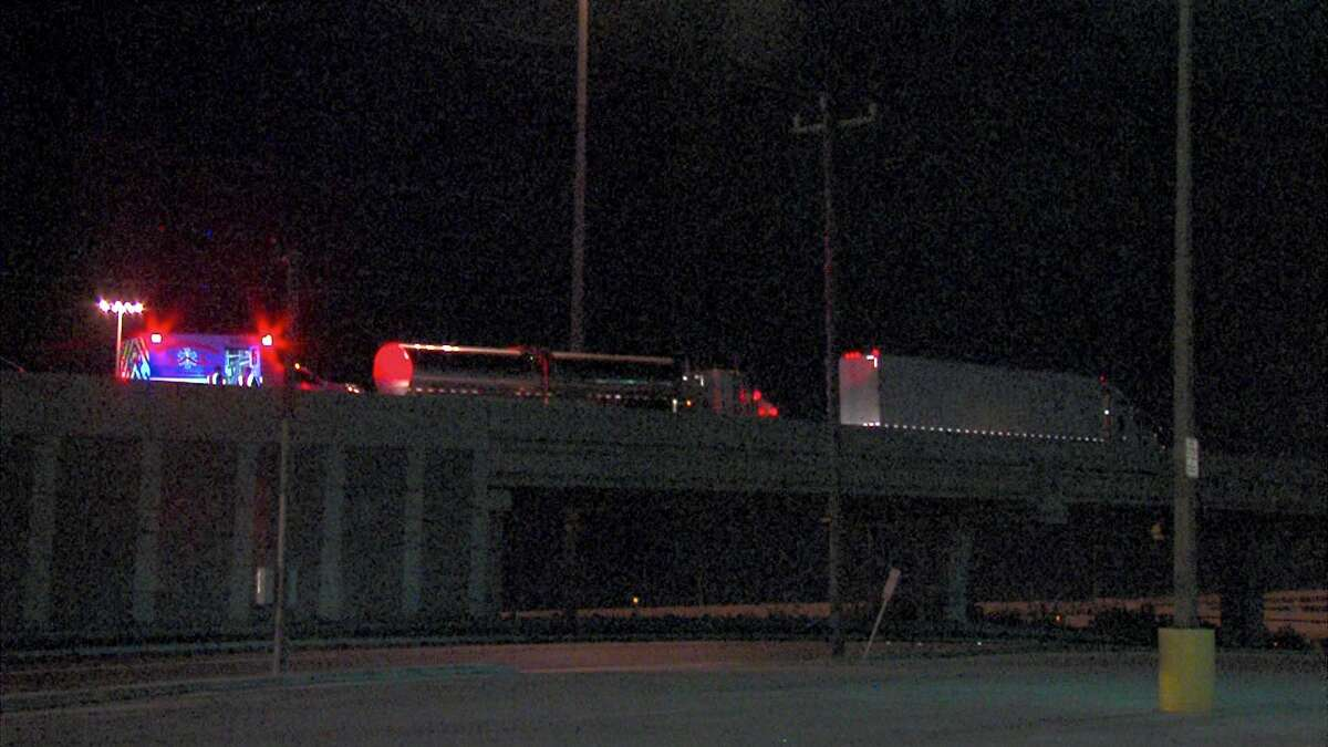 Mark Hernandez, 41, crashed into the rear of an 18-wheeler on Interstate 10 West and Northeast Loop 410 around 1:13 a.m., according to the Bexar County Sheriff's Office.