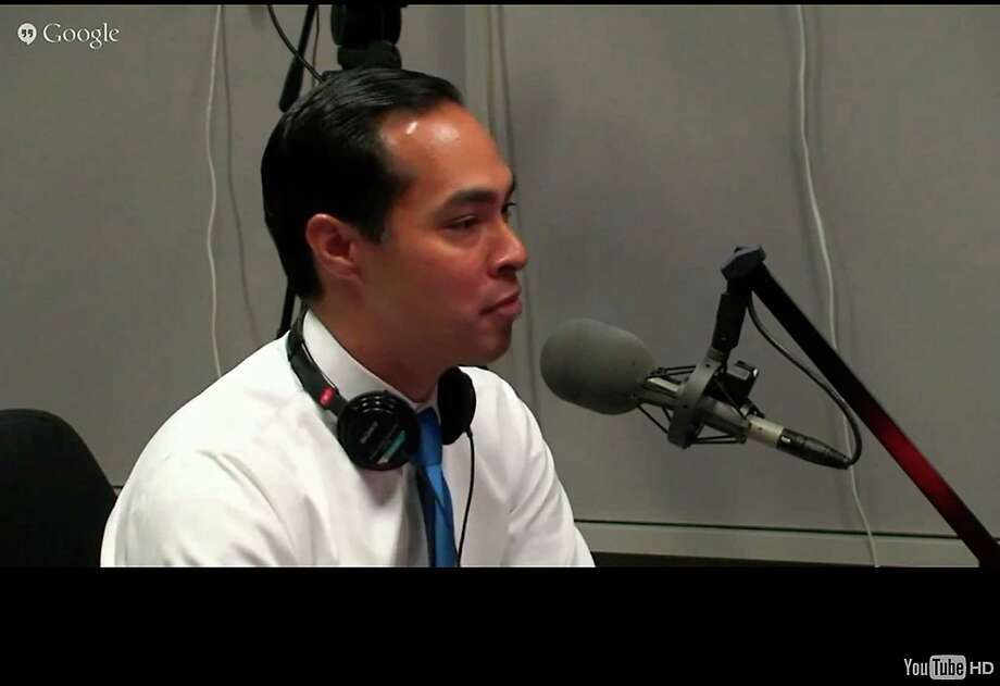 "Screenshot of HUD Sec. Julian Castro from today's ""The Diane Rehm Show"" on NPR, from NPR website Aug. 17, 2015. Castro insisted he's focused on his Cabinet role, but added ""I'd be lying"" if he said he wasn't interested in another office. Photo: Courtesy /"