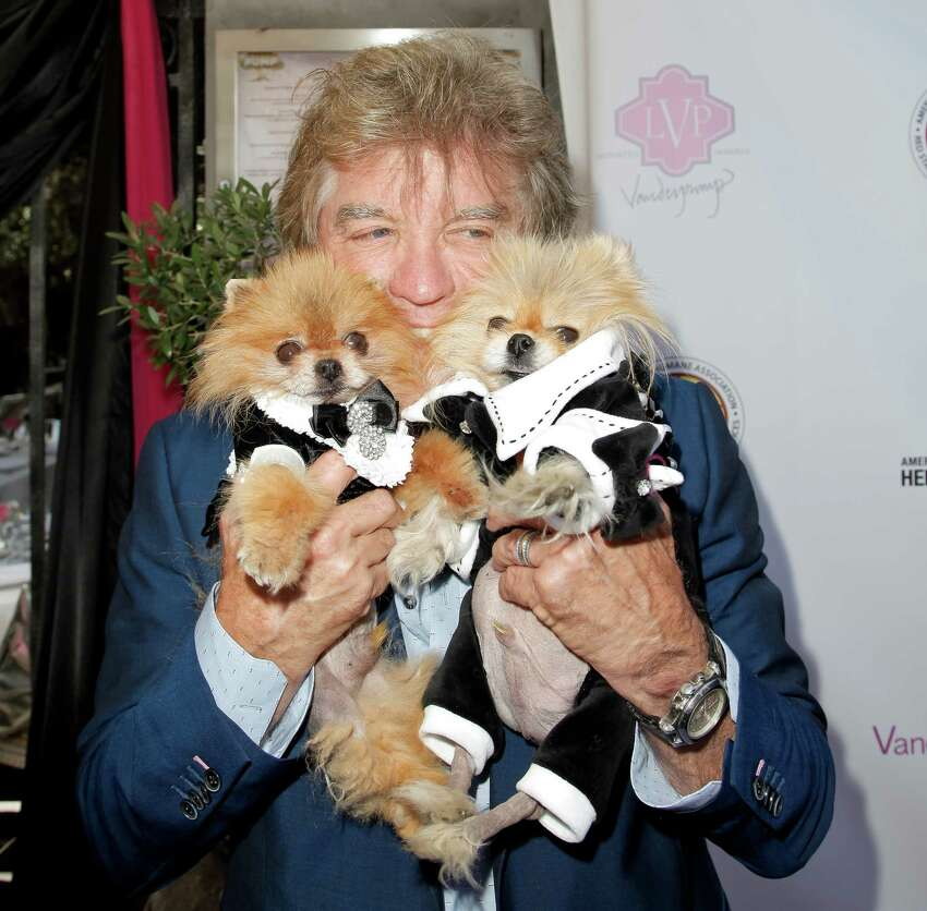 WEST HOLLYWOOD, CA - AUGUST 13: Ken Todd and dogs Giggy and Daddy attend Lisa Vanderpump's luncheon benefitting the American Humane Association and the Hero Dog Awards at Pump on August 13, 2015 in West Hollywood, California.