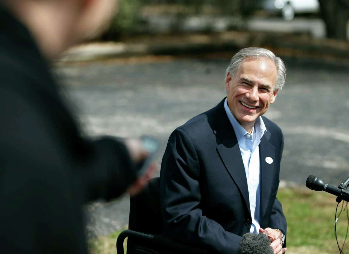 AUSTIN, TX - MARCH 4: Republican candidate for governor, Texas Attorney General Greg Abbott speaks to the press after voting in the Texas primary at Western Hills Church of Christ on March 4, 2014 in Austin, Texas. Abbott is planning to make stops in Houston and Dallas for get out-the-vote rallies ahead of the elections. (Photo by Erich Schlegel/Getty Images)