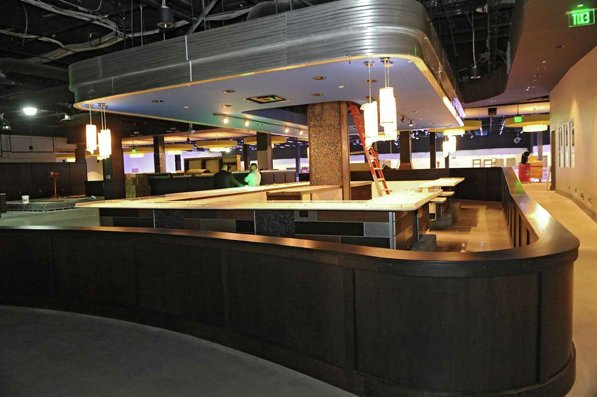 Main bar area at Latitude 360 in Crossgates Mall on Thursday, March 19, 2015 in Guilderland, N.Y. The fiscally troubled luxury bowling alley will not be coming to Crossgates Mall after all.(Lori Van Buren / Times Union archive)