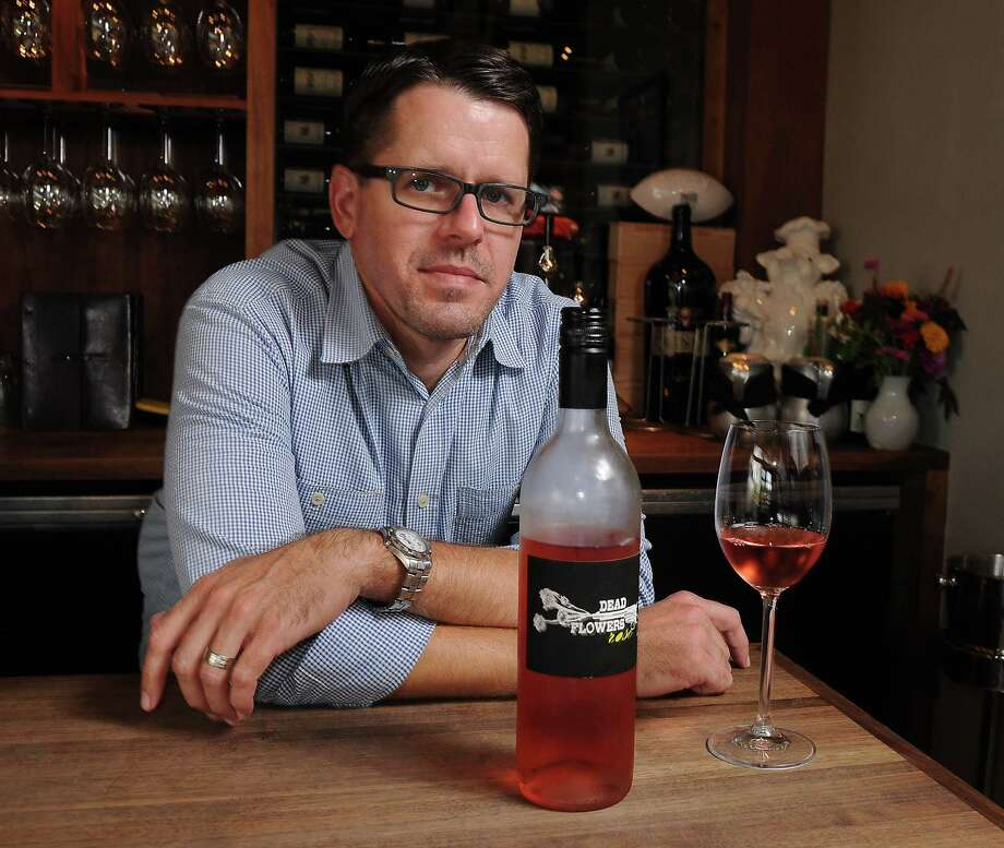 Sommelier Matthew Pridgen with a Rose at Underbelly Sunday August 09, 2015.(Dave Rossman photo) Photo: Dave Rossman, Freelance / Freelalnce