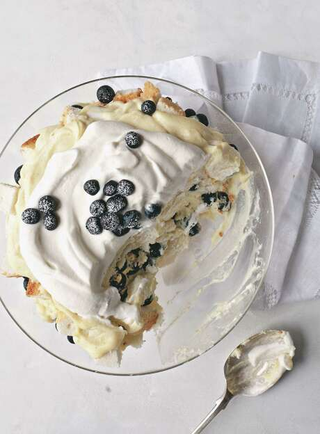 "Blueberry Angel Food Trifle with Rich Vanilla Pudding comes from ""Bakeless Sweets."" Photo: Stacy Newgent"