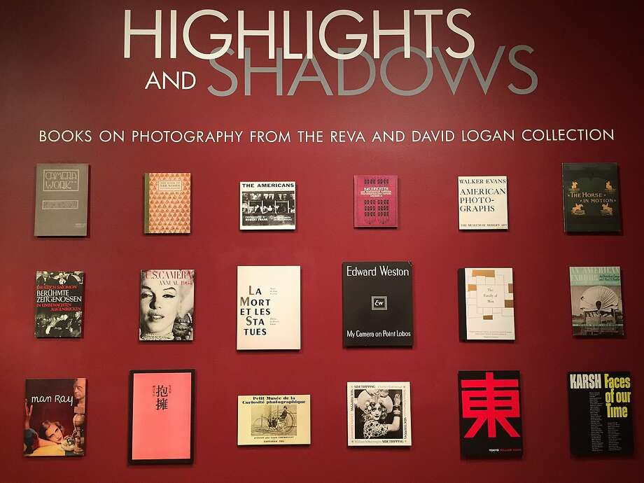 Installation image for the exhibition, Highlights and Shadows: Books on Photography From the Reva and David Logan Collection, which is on display in the Bancroft Library Gallery through September 4th. Photo: Courtesy Bancroft Library
