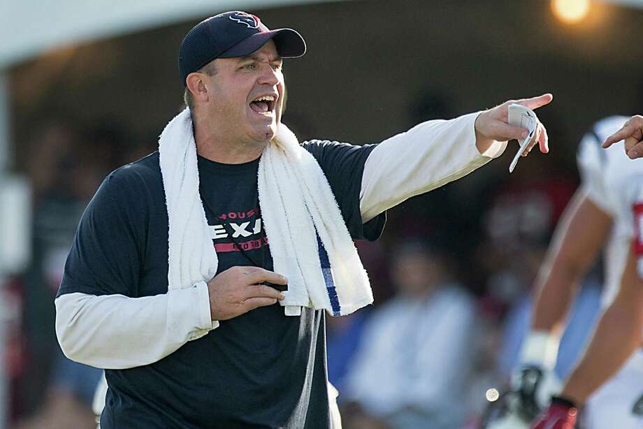 His colorful language aside, Texans coach Bill O'Brien has impressed his mother with the way he wants his new players to get to know one another. Photo: Brett Coomer, Staff / © 2015 Houston Chronicle